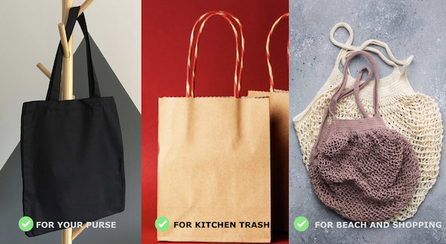 How to become environmentally friendly - Use Jute, cloth and paper bags